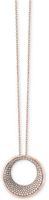 Effy Diamond Circle Pendant Necklace (1-9/10 ct t.w.) in 14k Gold or Rose Gold
