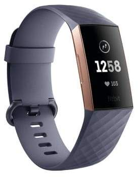 Fitbit Charge 3 Advanced Rose Goldtone Fitness Tracker Special Edition