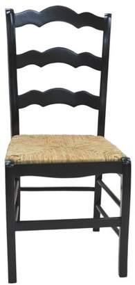 Carolina Chair & Table Toulon Ladder Back Chair, Antique Black