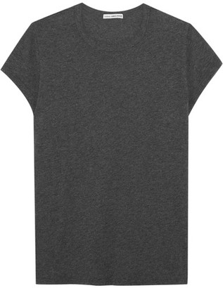 James Perse - Brushed Cotton-blend Jersey T-shirt - Gray $105 thestylecure.com