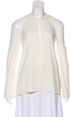 Theory Cold Shoulder Crepe Top w/ Tags