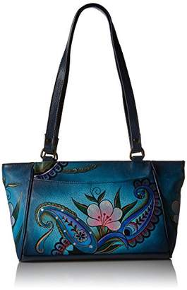 Anuschka Handpainted Leather 8052-DPF East-West Small Tote eb789bd52211f