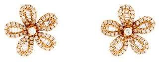 Graziela 18K Diamond Flower Stud Earrings