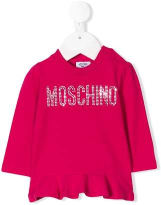 Moschino Kids embellished logo tunic top