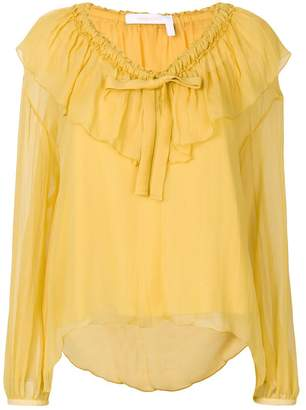 See by Chloe V-neck ruffle blouse