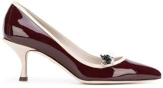 Dolce & Gabbana contrast pointed pumps