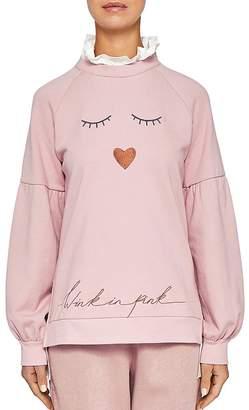 Ted Baker Ted Says Relax Evliin Face Logo Layered-Look Sweatshirt