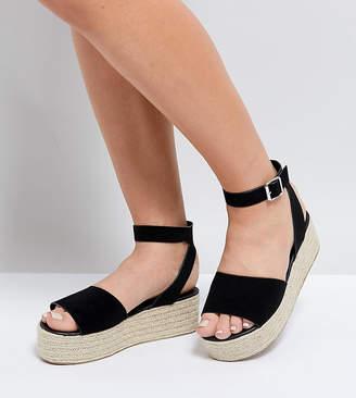 Asos DESIGN THEAR Wide Fit Espadrille Flatform Sandals