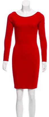 Blumarine Long Sleeve Wool Dress