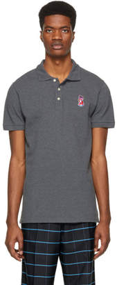 MAISON KITSUNÉ Grey Acide Fox Patch Polo