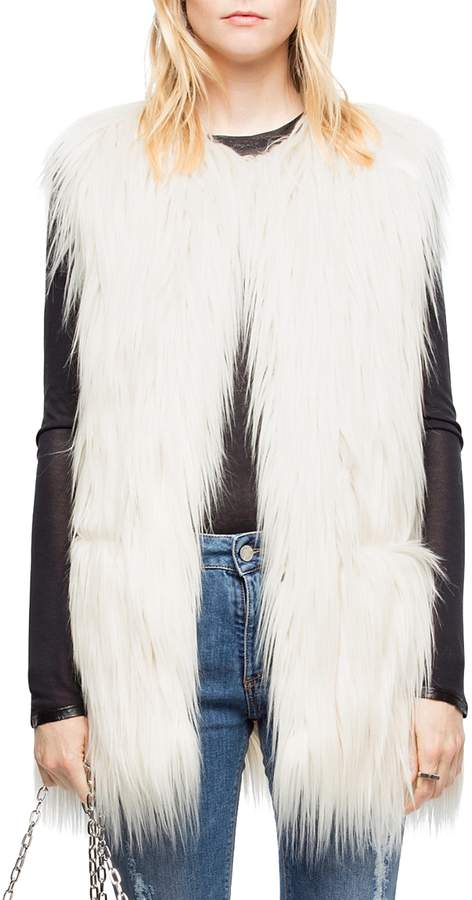 Fire Faux-Fur Vest