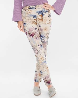 Chico's Chicos Floral Sateen Jeggings