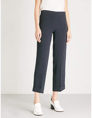 Max Mara S Belgica mid-rise cropped crepe trousers