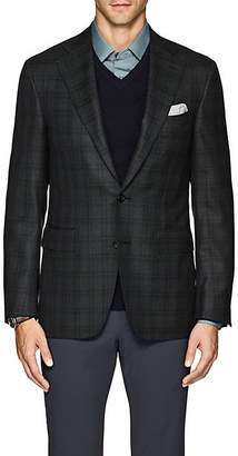 Canali Men's Plaid Wool Twill Two-Button Sportcoat