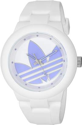 adidas Women's 'Aberdeen' Quartz Plastic and Silicone Casual Watch, Color: (Model: ADH3144)