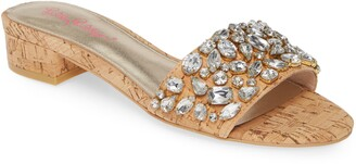 Lilly Pulitzer Trish Crystal Embellished Slide Sandal