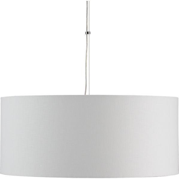 Crate & Barrel Finley Large White Pendant Lamp
