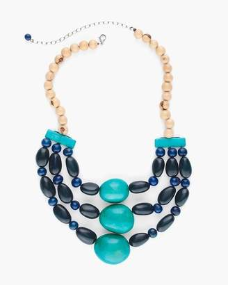 Faire Collection Blue Multi-Strand Necklace