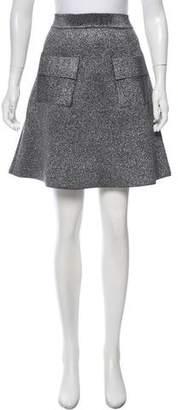 A.L.C. Metallic Knee-Length Skirt