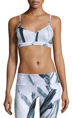 Alo Yoga Goddess Mesh-Panel Sports Bra $54 thestylecure.com