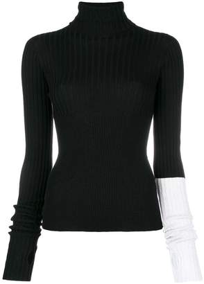 Circus Hotel contrasting sleeve knit top