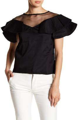 Gracia Tiered Flutter Sleeve Blouse
