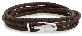 Miansai Trice Braided Leather & Sterling Silver Bracelet