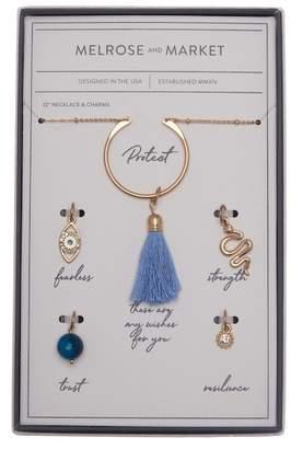 Melrose and Market Evil Eye Charm Necklace Gift Box Set