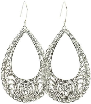 Exex Design Jewelry Sterling Silver Rosario Bohemian Earrings