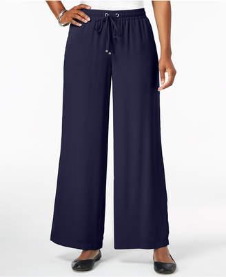 JM Collection Wide-Leg Drawstring Pants