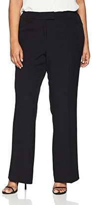 Anne Klein Women's Plus Size Flare Leg Crepe Pant