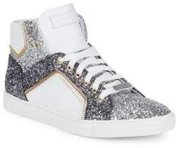 Alessandro Dell'Acqua Sequin High-Top Sneakers