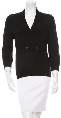 Vera Wang V-Neck Merino Wool Sweater $125 thestylecure.com