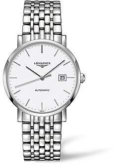 Longines Men's Elegant Collection Stainless Steel Bracelet Watch
