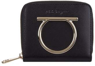 Salvatore Ferragamo Leather Gancini French Wallet