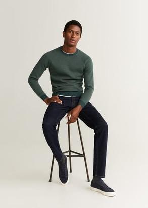 MANGO MAN - Elbow-patch cotton sweater green - XS - Men