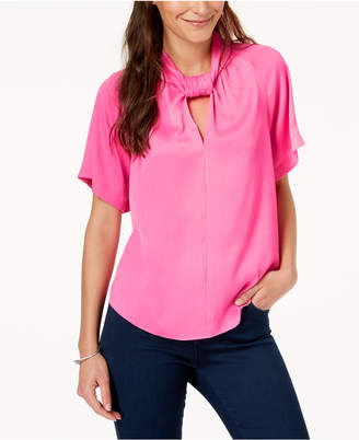 Rachel Roy Keyhole Twist-Neck Top