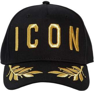 DSQUARED2 Icon Cotton Canvas Baseball Hat