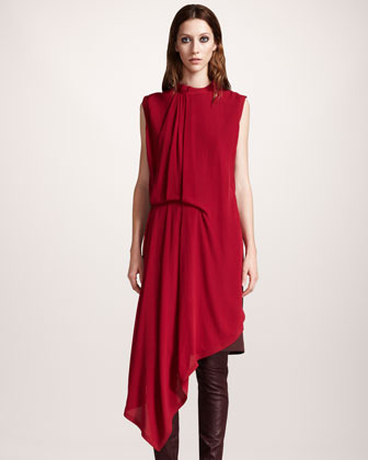 Maison Martin Margiela Asymmetric Draped Tunic Dress