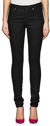 Saint Laurent Women's Coated Skinny Jeans