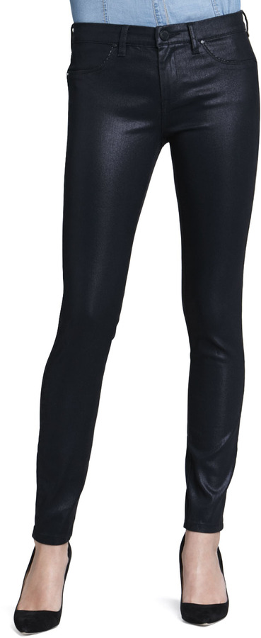 Blank Pocket Pleaser Coated Jeans