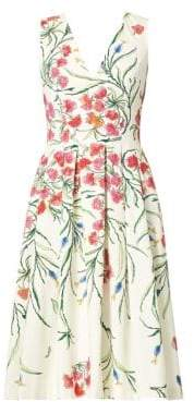 Carolina Herrera Floral Sleeveless Dress