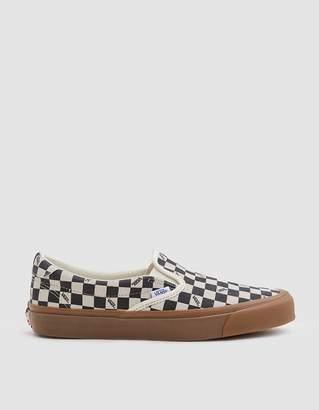 Vans Vault By OG Slip-On 59 LX Suede Sneaker in Checkerboard/Light Gum