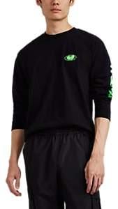 Wu Wear Men's Logo Cotton Long-Sleeve T-Shirt - Black