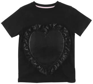 Loud Apparel Patched Heart Regular Fit T-Shirt