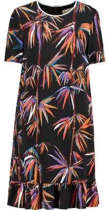 Emilio Pucci Ruffle-Trimmed Printed Twill Mini Dress