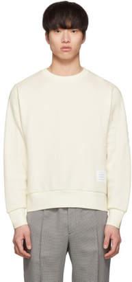 Thom Browne Off-White Chunky Honeycomb Pique 4-Bar Sweatshirt