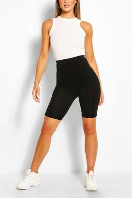 boohoo Solid Black Cycling Shorts