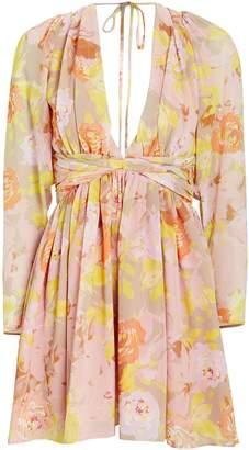 Ronny Kobo Alyson Floral Chiffon Dress
