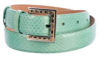 Dolce & Gabbana Snakeskin Buckle Belts